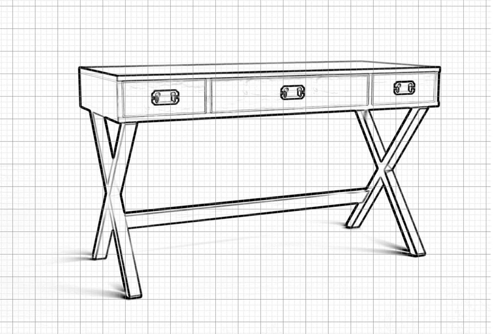 Furniture CAD Drawing   3D Services   Picsera