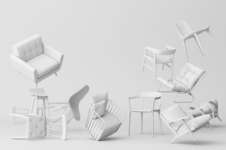 3D Rendering   White Furniture Picsera